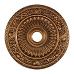 "Floral Wreath Collection 24"" Antique Bronze Ceiling Medallion M1006AB"