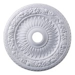 "Floral Wreath Collection 24"" White Ceiling Medallion M1006WH"