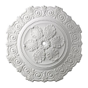 "Marietta Collection 33"" White Ceiling Medallion M1011WH"