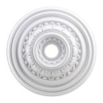 "English Study Collection 24"" White Ceiling Medallion M1012WH"