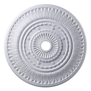 "Corinna Collection 33"" White Ceiling Medallion M1013WH"