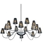 "Chic Collection 16-Light 39.5"" Polished Chrome Chandelier and Clear Glass E20294-10"