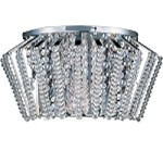 "Zen Collection 3-Light 11.5"" Polished Chrome Wall Sconce and Crystal Glass E20408-20PC"