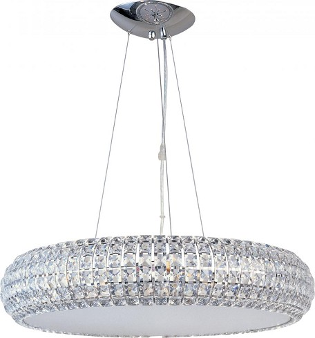 Polished Chrome 8 Light 21in. Wide Pendant from the Bijou Collection
