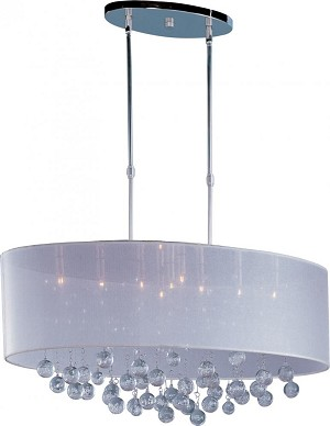 "Veil Collection 9-Light 32"" Polished Chrome Pendant E22387-120PC"