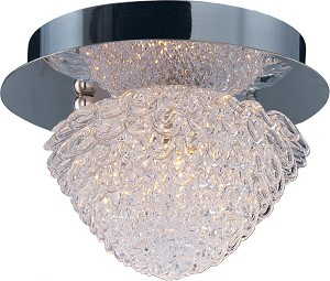 "Blossom Collection 1-Light 5.5"" Polished Chrome Wall Sconce and Crystal Glass E23000-20PC"