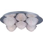 "Blossom Collection 5-Light 15.75"" Polished Chrome Flush Mount and Crystal Glass E23002-20PC"