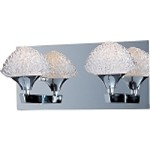 "Blossom Collection 2-Light 12.25"" Polished Chrome Bath Vanity and Crystal Glass E23012-20PC"
