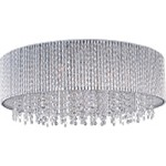 "Spiral Collection 10-Light 22"" Polished Chrome Crystal Flush Mount Ceiling Fixture E23132-10PC"