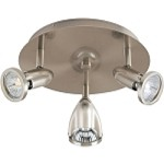"Agron Collection 3-Light 9"" Satin Nickel Flush Mount E30001-10"