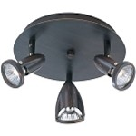 "Agron Collection 3-Light 9"" Bronze Flush Mount E30011-10"