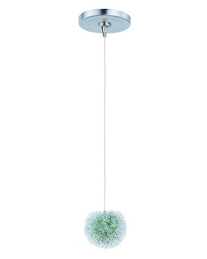 "Minx Collection 1-Light 5"" Brushed Aluminum Mini Pendant E94420-94AL"