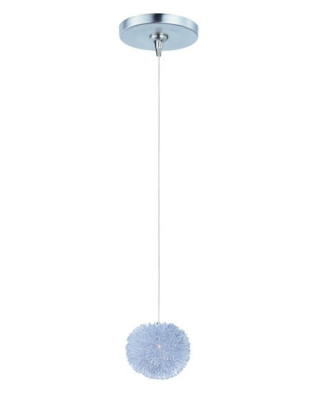 "Minx Collection 1-Light 5"" Brushed Aluminum Mini Pendant E94420-AL"