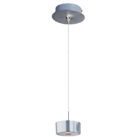 Satin Nickel 1 Light 6in. Wide Pendant from the Percussion Collection