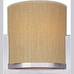 "Elements Collection 1-Light 7.25"" Satin Nickel Wall Sconce E95080-101SN"