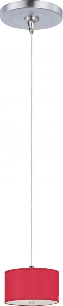 "Elements Collection 1-Light 6.5"" Satin Nickel Mini Pendant E95480-105SN"