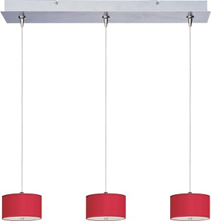"Elements Collection 3-Light 24.5"" Satin Nickel Linear Pendant E95496-105SN"
