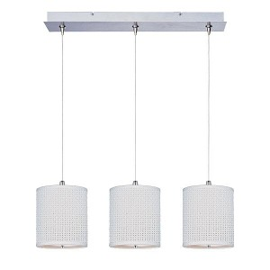 "Elements Collection 3-Light 24.5"" Satin Nickel Linear Pendant E95497-100SN"