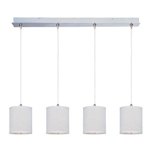 "Elements Collection 4-Light 34.5"" Satin Nickel Linear Pendant E95499-100SN"