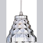 "Minx Collection 1-Light 5.25"" Satin Nickel RapidJack Pendant and Mirror Chrome Glass EP96001-20SN"