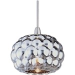 "Minx Collection 1-Light 4.25"" Satin Nickel RapidJack Pendant and Mirror Chrome Glass EP96012-55SN"