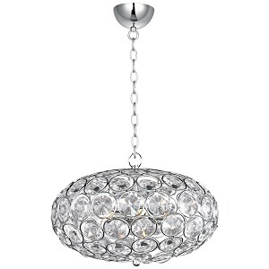 "Brilliant Collection 6-Light 16"" Oval Crystal Pendant E24011-20PC"