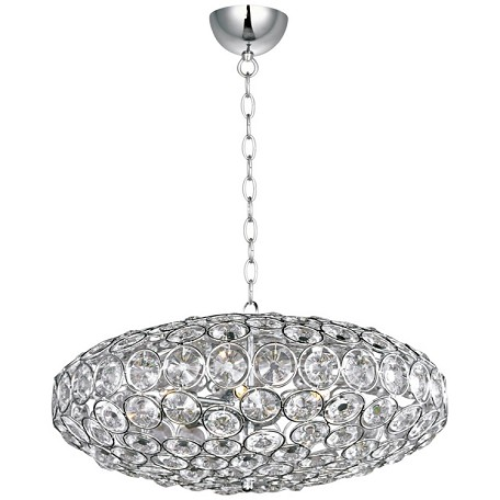 "Brilliant Collection 8-Light 24"" Oval Crystal Pendant E24012-20PC"