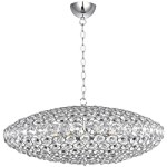 "Brilliant Collection 12-Light 34"" Oval Crystal Pendant E24013-20PC"