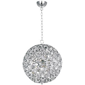 "Brilliant Collection 8-Light 16"" Round Crystal Pendant E24016-20PC"