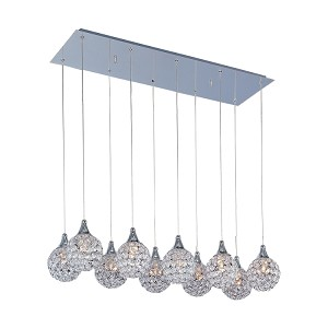"Brilliant Collection 10-Light 33"" Rectangular Crystal Pendant E24028-20PC"
