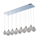 "Brilliant Collection 14-Light 47"" Rectangular Crystal Pendant E24029-20PC"
