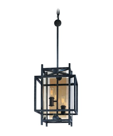 "Crosby Collection 2-Light 10"" French Iron Pendant F2492FI"