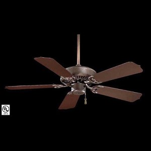 "F572-ORB Sundance 42"" Indoor/ Outdoor Ceiling Fan Oil Rubbed Bronze Finish with Dark Oak All Weather Blades - SKU# 34767 ID# 35663"