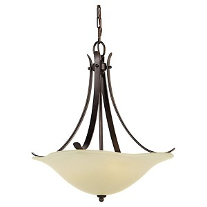 "Morningside Collection 3-Light 18"" Grecian Bronze Pendant F2045/3GBZ"