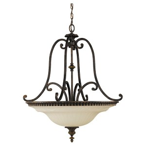 "Drawing Room Collection 4-Light 27"" Walnut Pendant F2222/4WAL"