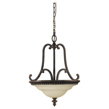 "Drawing Room Collection 2-Light 17"" Walnut Pendant F2223/2WAL"