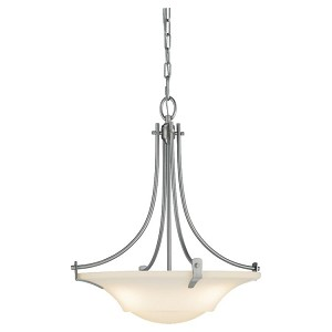 "Barrington Collection 3-Light 18"" Brushed Steel Pendant F2246/3BS"