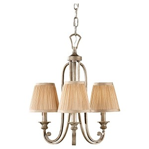 "Abbey Collection 3-Light 19"" Silver Sand Chandelier F2641/3SVSD"