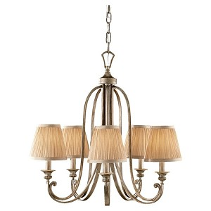"Abbey Collection 5-Light 26"" Silver Sand Chandelier F2642/5SVSD"
