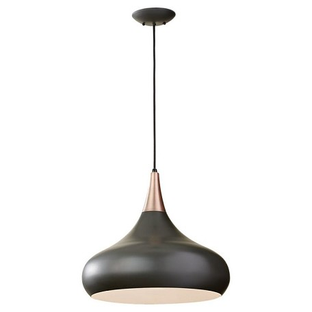 "Beso Collection 1-Light 18"" Dark Bronze Metal Pendant F2706/1DBZ"