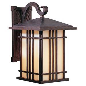 "Prairie House Collection 1-Light 13"" Weathered Patina Outdoor Wall Light OL1801WP"