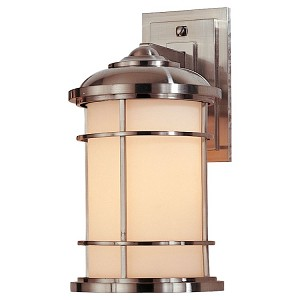 "Lighthouse Collection 1-Light 13"" Brushed Steel Outdoor Wall Light OL2201BS"