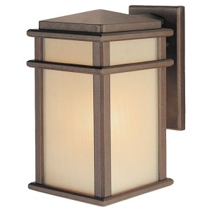 "Mission Lodge Collection 1-Light 12"" Corinthian Bronze Outdoor Wall Light OL3401CB"