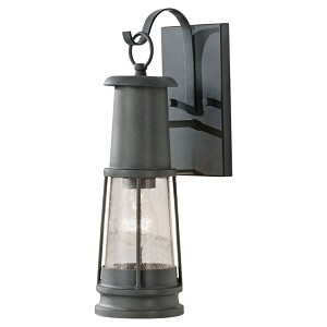 "Chelsea Harbor Collection 1-Light 16"" Storm Cloud Outdoor Wall Light OL8100STC"