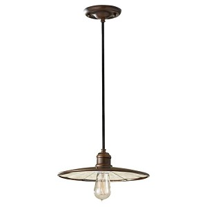 "Urban Renewal Collection 1-Light 11"" Astral Bronze Mini Pendant P1236ASTB"