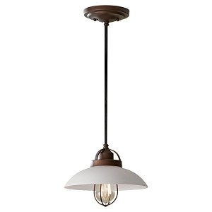 "Urban Renewal Collection 1-Light 10"" Bronze Patina Mini Pendant P1241BZP"
