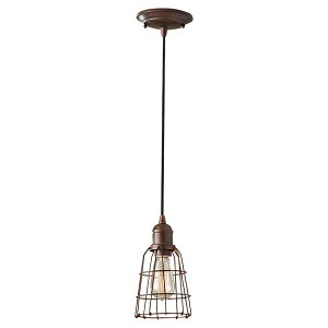 "Urban Renewal Collection 1-Light 5"" Parisian Bronze Mini Pendant P1246PRZ"