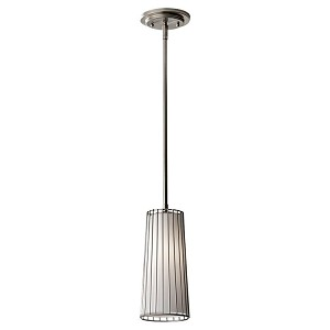 "Urban Renewal Collection 1-Light 5"" Brushed Steel Mini Pendant P1248BS"