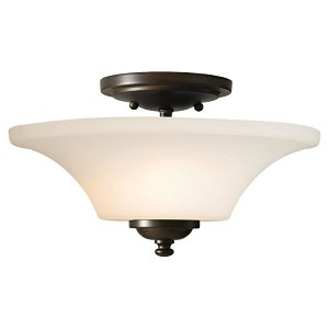 "Barrington Collection 2-Light 13"" Oil Rubbed Bronze Semi-Flush Mount SF240ORB"