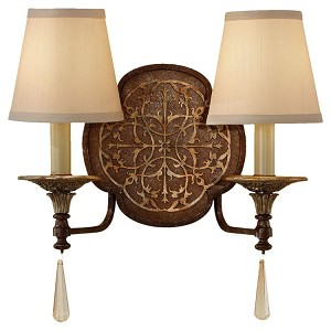 "Marcella Collection 2-Light 15"" British Oxidized Bronze Wall Sconce WB1530BRB/OBZ"